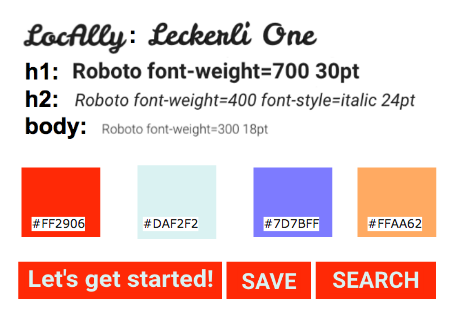 Style guide fonts and colors