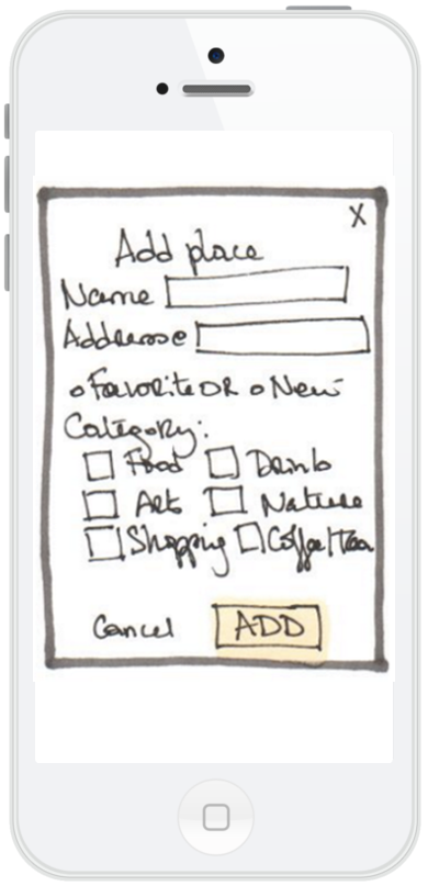 Add place wireframe